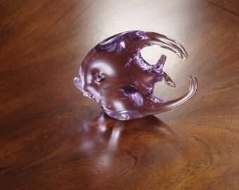 Vintage Art Glass Lavender Angel Fish!