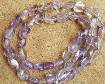 "Natural Ametrine Chips/Beads 6-12mm x 5~8mm x 4~6mm Gemstone Beads - 15.5"" Strand"