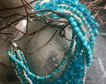 Wedding bracelet peyote seed beads unique handmade