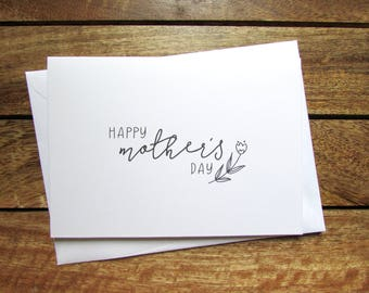Mother's Day Card   Happy Mother's Day Card   Folded A6 Card and Envelope