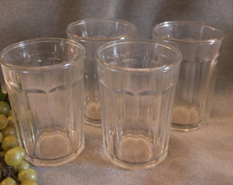 Set of 4 Large Glass Tumblers - Each holds 18 ounces!