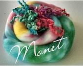 Batt - Art Batt - Roving - Spinning Fiber - Locks - Hand Dyed - Top - Felting Fiber - Fiber - Spinning - Premium Kid Mohair Locks - Monet