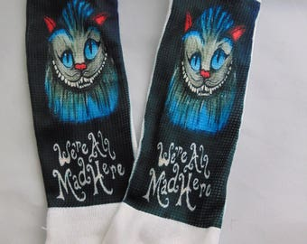 Cheshire Cat Alice In Wonderland Inspired Socks