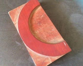 """Vintage Letterpress Letter, """"C"""" or half circle"""
