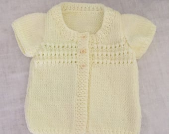 Lemon Knitted Baby Vest