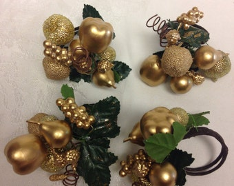 Holiday Napkin Rings - Set of 4