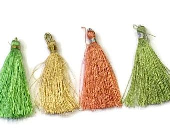 4 Assorted Silk Tassels