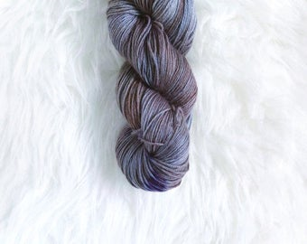 concord grape - MCN sock yarn - merino cashmere nylon