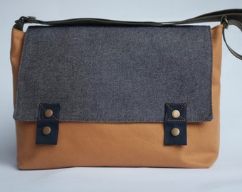 shoulder bag, organic cotton