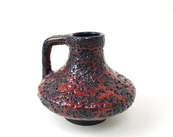 Mid Century Fat Lava Pitcher Vase by Heinz Martin for Jopeko