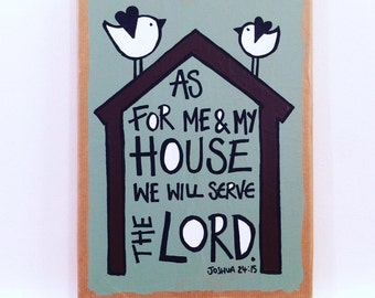 As for me and my house. Joshua 24:15 painting
