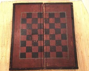 19th Cen Folding Gameboard