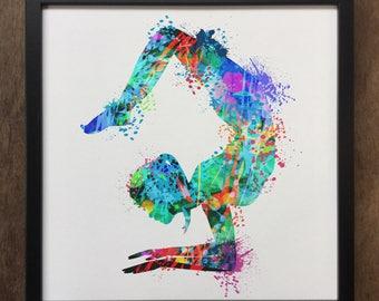 Yoga Print Meditation Colourful Spiritual Art- Framed Art Print ART87