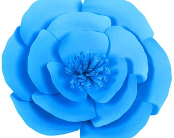 15cm GIANT PAPER FLOWER Turquiose Blue 706-019 for Wedding Photo Backdrop