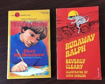 Beverly Cleary Runaway Ralph 1974 & Dear Mr. Henshaw 1984