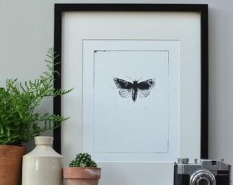 Nordic Art Design, Nordic Art Designs, Nordic Design Print, Moth, Wall Art, Screen Print, Minimalist Art, Minimalist Print, Original Art