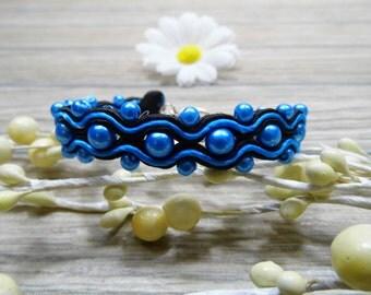 bracelet  / soutache technique / handmade (nr373)