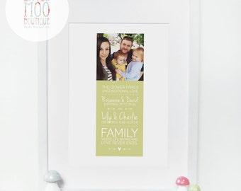 Family Gifts - Mothers Day gift - Gifts for Mum - Family Print - Sentimental Gifts for Mum - Gift for Dad - Home Decor - Family Gift Idea