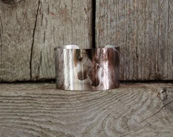 """Horse jewelry.Wild Horse Aluminum Cuff Bracelet.""""Heart"""""""