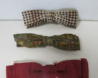 Vintage Bow Ties Set of 3 Royal Best Clip Beau JR / Clip on Bow Tie