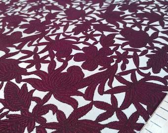 Gary and cherry jacquard fabric #1100