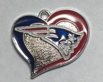New England Patriots Heart Charm