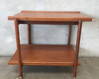 Mid Century Danish Teak Bar Cart (3H9VP1)
