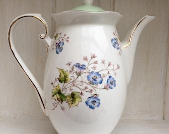 Royal  Grafton bone china coffee pot ' California' -vintage china