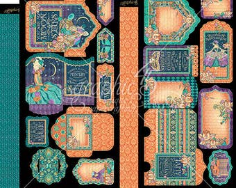 Graphic 45 Midnight Masquerade Tags and Pockets, SC007715