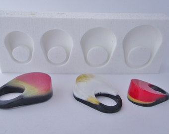 Resin ring silicone mold EMMA also usable with others materials except food