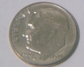 Uncirculated 1974 P Roosevelt Dime