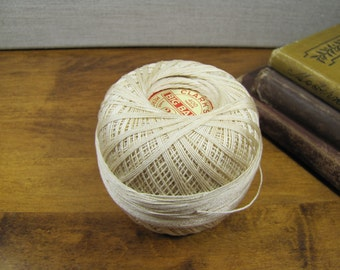 Vintage Skein (Partial) - Clark's Big Ball Crochet Thread - Mercerized - No. 20 - Ecru