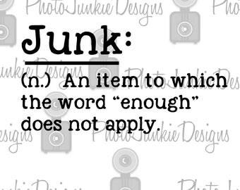 Cutting File Junk Definition SVG PNG Cutting File Digital File