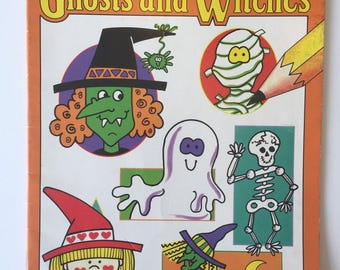 How To Draw Ghosts And Witches By Carolyn Loh Vintage Paperback Book 1992