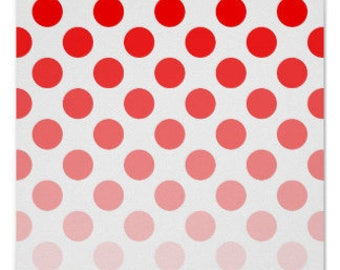 Ombre Dots in Red Premium Cotton Fabric from  Riley Blake Fabrics