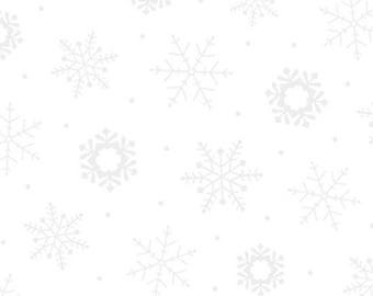 Quilting Illusions White On White Snowflake from Quilting Treasures by the yard