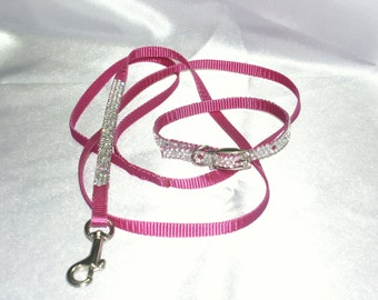 Small Krisybelle Crystal Leash, Swarovski Crystal,leash, Cat Leash, Crystal Leash