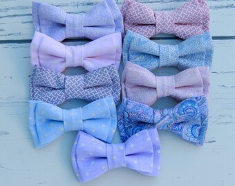 Pastel Bow Ties, Pastel bowties, Pastel Wedding Bowties, Pastal Bowtie, Pastal Bow Tie, Mint Bowtie, Purple Bowtie, Ties Pastal