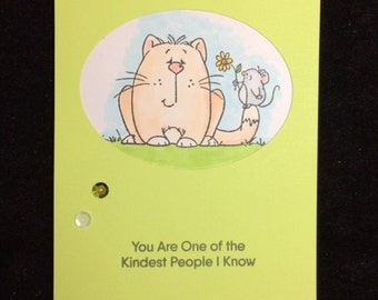 Cat Kindness Greeting Card