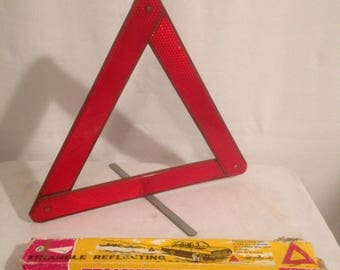 Old Triangle signs foldable Auto Collection + box Vintage