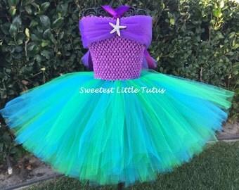 Little Mermaid Tutu Dress/ Mermaid Tutu Dress/ Ariel Tutu Dress/ Little Mermaid Birthday Dress