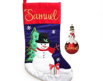 Snowman Stocking and Bauble Pack