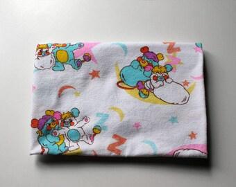 Rare Popples Vintage Receiving Blanket