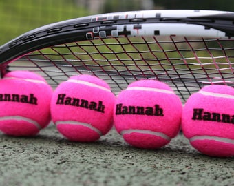 Personalised Pastel Coloured Tennis Balls