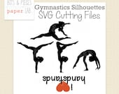 SVG Cutting Files: Gymnastics Silhouettes SVG, Gymnastics SVG