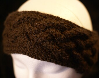 Hand Knitted Braided Headband