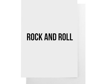 rock and roll note card