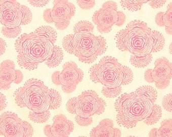 "Midwest Modern Floating Buds in Fuchsia Pink from Amy Butler - listing for 1 Yard 36x""44""  FM"