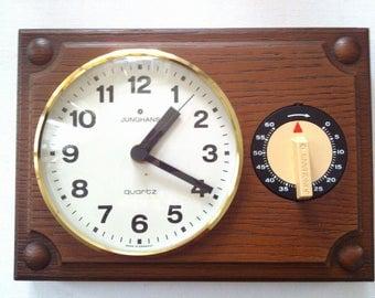 """Kitchen clock vintage, """"Junghans""""."""