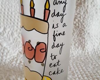 Sandra Magsamen Frosted Birthday Cake Tumbler
